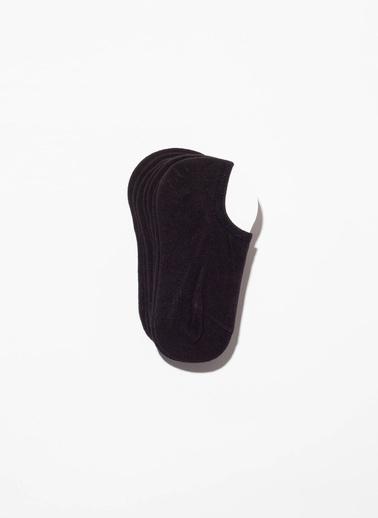 Katia & Bony 7'Li Paket Unisex Patik Çorap Siyah